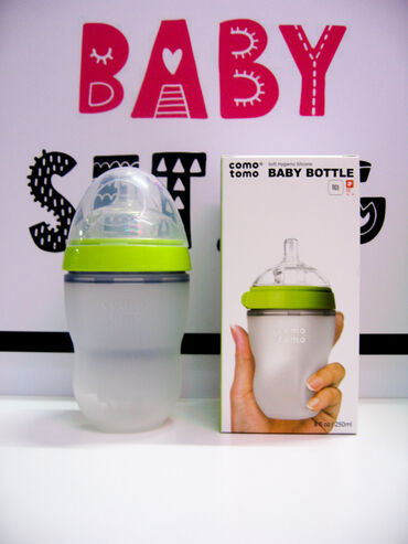 Бутылочка Comotomo, объем: 250ml. Соска: средний поток (от 3-х до 6-ти