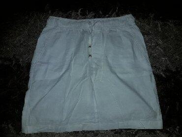 Broj suknjica - Srbija: Bela suknjica mesavina pamuka i lana. Odlicna, polovno br.40