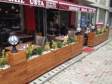 Bakı şəhərində Taxta gul dekorlarinin sifarisi.. Villa bag evi restoran cay evleri