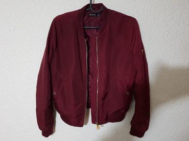 STRADIVARIUS Bomber bordo zenska jakna, kao nova velicina: M - Loznica
