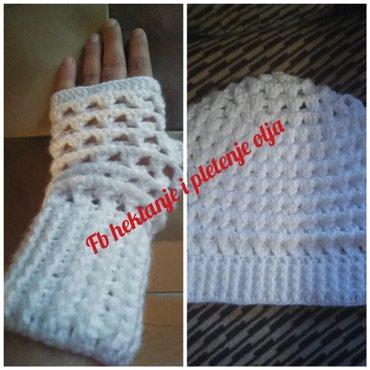 Komplet, kapa i rukavice,rucni rad,izrada po porudzbini - Sokobanja