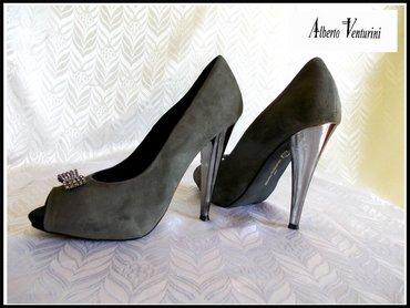 Blejzer elegantan - Srbija: VRH Italy kozne NOVEElegantne italijanske Alberto Venturini sandalete
