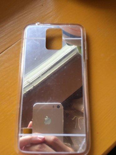 Mobilni telefoni - Knjazevac: Srebrna ogledalo maska za samsung s5ka- futrola, sa efektom srebrnog