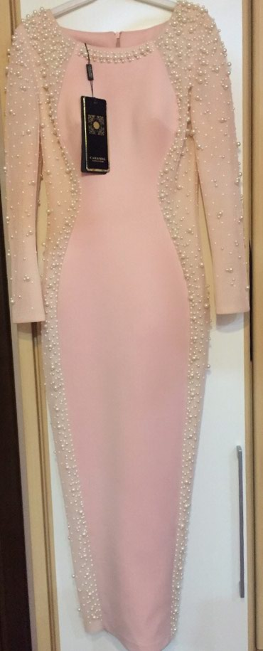Нежно розовое вечернее платье с жемчугом новое в Бишкек