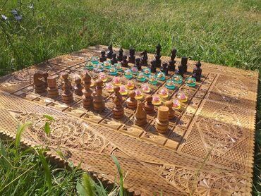 Спорт и отдых в Джалал-Абад: Продаю шахмат шашки нарда 3в1 сделан из чистого ореха (спец.заказ)