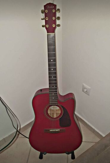 Μουσικά όργανα - Ελλαδα: FENDER authentic acoustic guitar. Rare color! (guitar stand included)