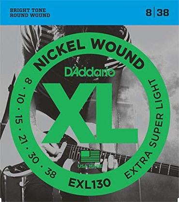 D'Addario elektro gitara uchun 1 dest sim Model: EXL 130