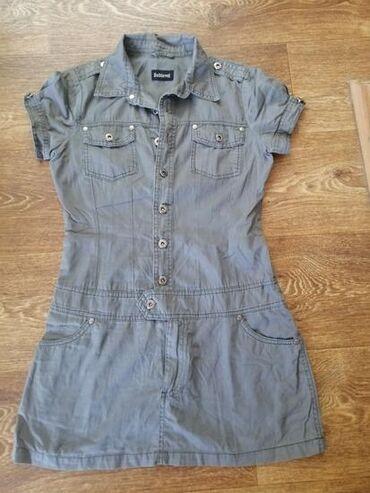Haljina na raskopcavanje, sive boje. Odgovara velicini s/xs