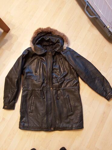 Jakna kapuljaca pravo - Srbija: Maglovski kozna jakna sa prirodnim krznom,Predivna topla kozna jakna