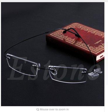 Fashion metal rimless eyeglasses frame spectacle lightweigh  - Novi Sad - slika 3