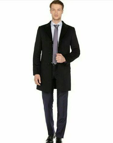 Новое Черное пальто кашемир 56 размерЗастегивается на три