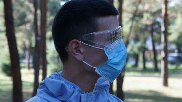 Одноразовая трехслойная маска, ткань является фильтром снижающим риск