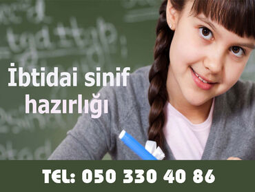 Online İbtidai sinif hazırlığı dərsləri Azərbaycan və Rus bölmələri üz