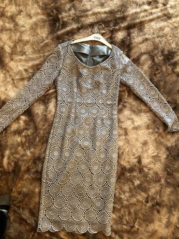кружевное платье большого размера в Кыргызстан: Платье кружевное серое размер xs/s