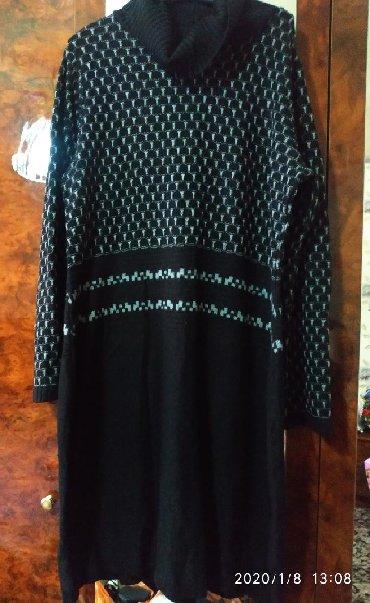 вязаное платье большого размера в Кыргызстан: Теплое вязаное платье, размер 50-52
