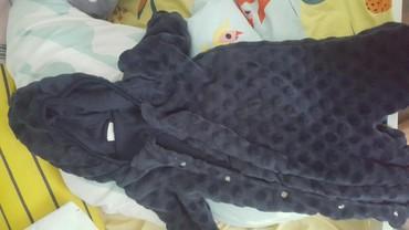 Dečije jakne i kaputi | Vrbas: Teget plisani skafander obučen par puta bebi