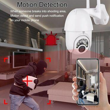 WiFi KameraTəhlükəsizlik KamerasıTip: Wi-Fi(İp) KameraModel: V380 Q8