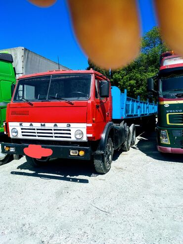 Услуга КамАЗ полуприцеп шаланда, перевозка любых грузов, кирпич