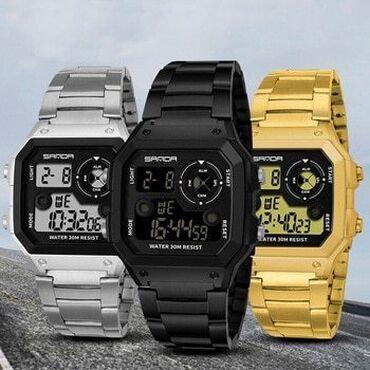Часы электронные, унисекс, металлический браслет, очень комфортный