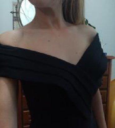 Crna-uska-haljina - Srbija: Off shoulder mala crna haljina. Uska, kratka i atraktivna. Kao NOVA, u