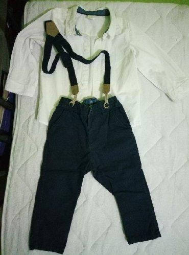 Jednom obucene pantalone i kosulja za prvi rodjendan h&m - Lebane