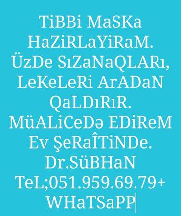 75 elan | TIBBI MASKALAR: TiBBi MasKa Hazirlayiram. Diger elanlarimada baxa bilersiz