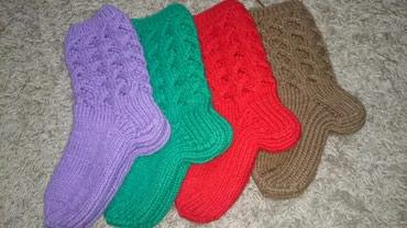 Тёплые вязаные носки в наличии и на заказ, любой цвет в Сокулук