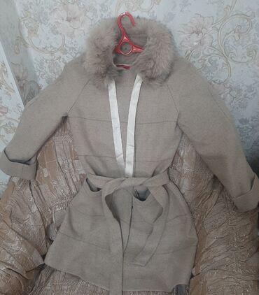 Женские пальто в Кыргызстан: Богатое,кашемировое пальто(натуралка) со съемным мехом, (не путать с