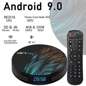 tv box - Azərbaycan: Tv boxHK1MAXFULL HDD 4⃣ K RAM 4⃣ GB Yaddaşi 32GB Android 9⃣ Bluetooth