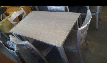 деревянный стол на кухню в Азербайджан: КУХОННЫЙ СТОЛ-СТУЛ 110х70см С ДОСТАВКОЙ В АДРЕС