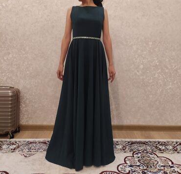 вечернее зеленое платье в Кыргызстан: ///ПРОДАЕТСЯ/// Платье вечернее. Цвет: темно зеленый Цена 2000