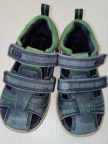 Decije kozne sandalice-cipelice za prohodavanje.  Ecco, br. 22, duzina - Beograd