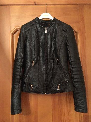 Куртка кож зам чёрная размер M ( Турция ) Пальто Say серая размер