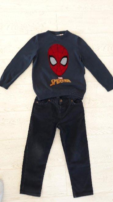 Dečija odeća i obuća - Novi Pazar: SNIZENO . Komlet somot pantalone I dzemper Waikiki za decaka 3