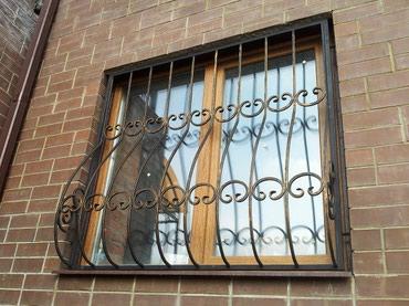 Сварные металлические решетки на окна в Бишкек