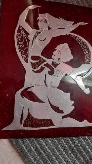 """Декоративное панно """" кавказский танец"""". Размер примерно 23 на 17 см"""