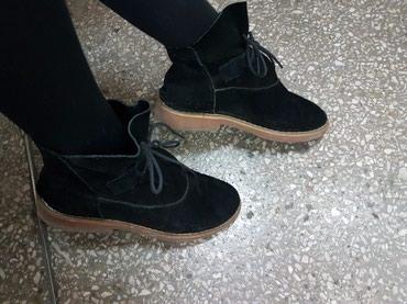 Продам б/у замшевые дэми ботиночки 37-38 размера в отличном состоянии в Лебединовка