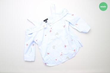 Рубашки и блузы - Цвет: Голубой - Киев: Жіноча сорочка з вишивкою New Look, р. М   Довжина: 61 см Рукав: 36 см