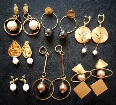 Коллекция серёжек с жемчугом в стиле в Бишкек