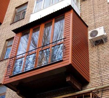 """Обшивка балконов: сайдингом, текстурой """"снежок"""", жидким травертином"""
