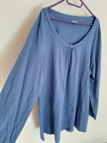 Majica dug - Srbija: Veličina 52 zenska bluza majica pamucna kvalitetna dugi rukav