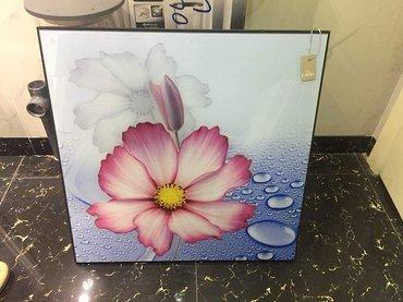 Картина под стеклом-Нежный цветок под в Бишкек
