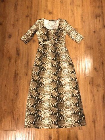 Платье в пол со змеиным принтом, ткань хб, размер 42 (s) в Бишкек