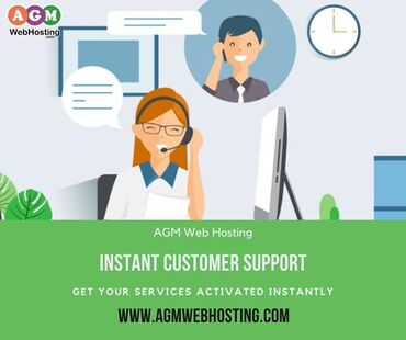 Instant Customer Service - AGM Web HostingHaven't joined AGM Web