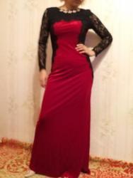 платье из королевского бархата в Кыргызстан: Платье из королевского бархата и дорогого гипюра. Турция. Размер 38