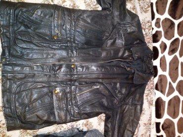 Куртка кожаная черная б/у размер 48—50. в Бишкек