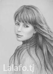 Рисую черно белые портреты. подробности по viber, whatsupp в Душанбе