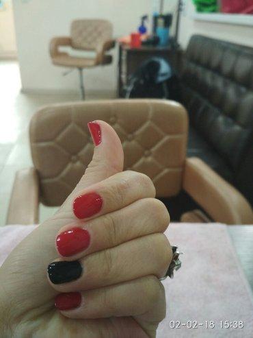 Manicure+shellak=300 наращивание ногтей={500) в Бишкек