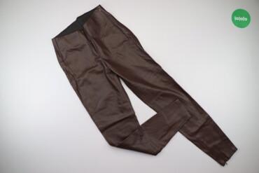 Жіночі шкіряні штани з утеплювачем Zara, p. XS    Довжина: 100 см Довж