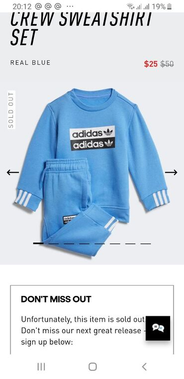 sport forma adidas в Кыргызстан: Двойка adidas на 3 года, утепленная.  Размер на 3 года Оригинал 100%